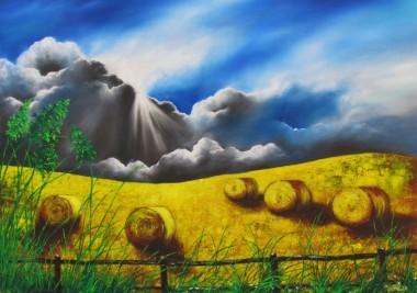 Landscape; framed