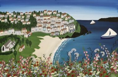 Cornish beach painting