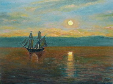 A Ship by the Light of the Sinking Sun