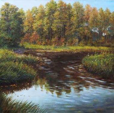 Autumn creek landscape