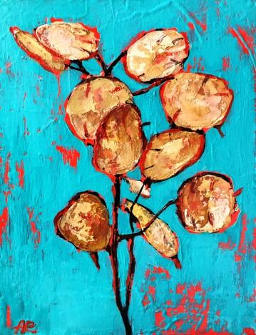 flowers,acrylic,lunaria,