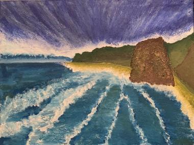 Cliffs, sea, sun