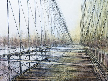 New York. The Brooklyn Bridge At Twilight