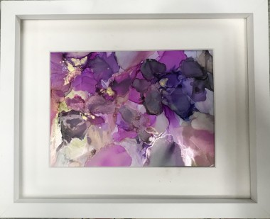 Floral flowers abstract framed