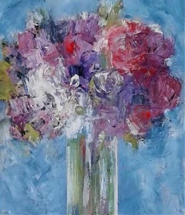A Bouquet on Blue