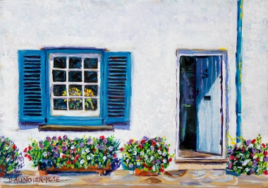 BLUE SHUTTERS, ST MAWES painting for sale