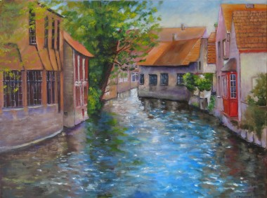 painting of Beautiful Bruges