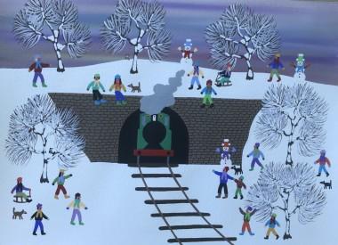 Steam Train in the Snow