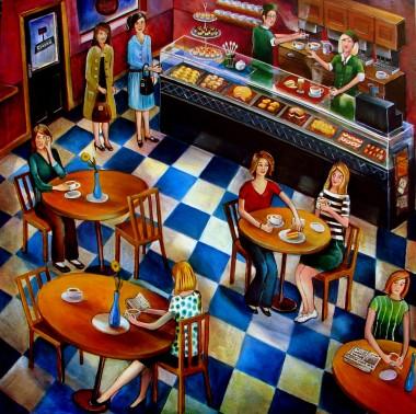 cafe art scene