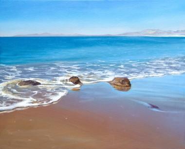 Calm seas at Harlech, Harlech Beach, Seascape,