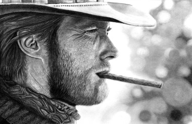 Clint Eastwood in Pencil