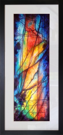 framed, stained glass