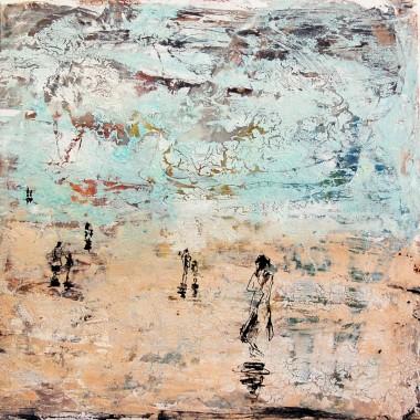 Enamel, resin and bitumen on canvas