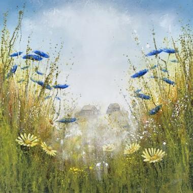 blue Cornflowes painting