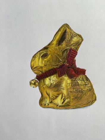 Chocolate Bunny Drawing