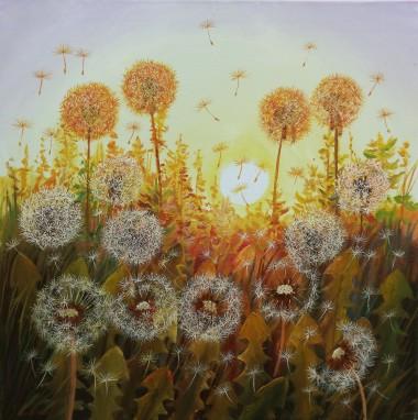 landscape Dandelions in the Sun 2