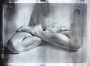 Wood panel, charcoal, contemporary art, artwork on wooden panel,figurativeart,nude