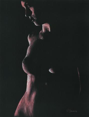 Fine art original pastel of a sensual sexy female model