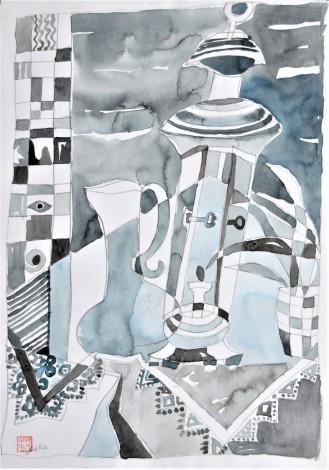 drawing,watercolour, abstract, still life