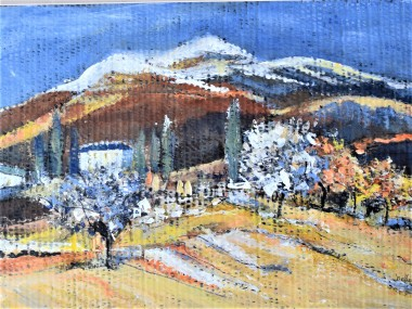 winter scene landscape