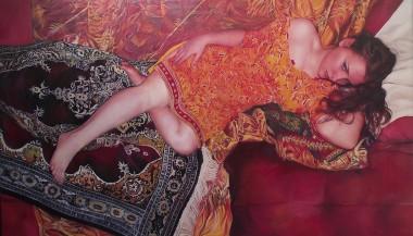 Seray II, oil on canvas painting