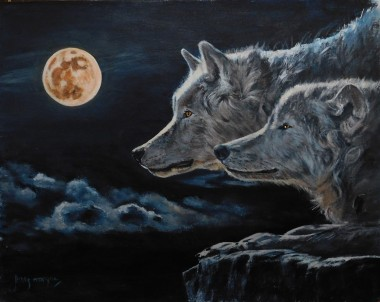 #wolves #moon #night #clouds #sky #erotic