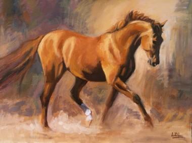 Chestnut Horse Oil painting
