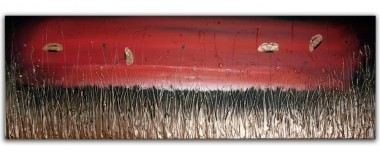red and gold landscape painting