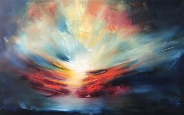 Etheric Sun | Oil on canvas | 122 x 76 cm | 2020