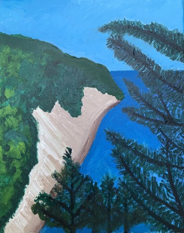 Glimpse of the Med through Pine trees