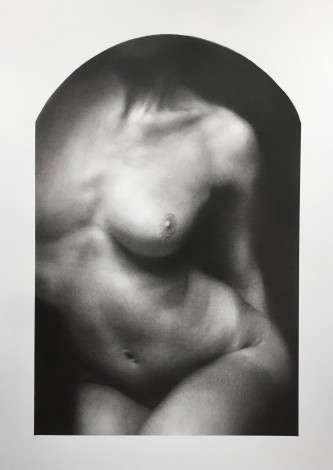Nude drawing, artwork on paper