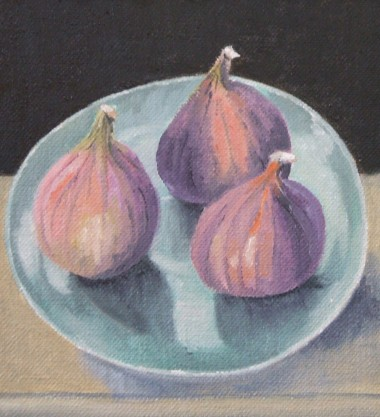 Figs on Turquoise Plate