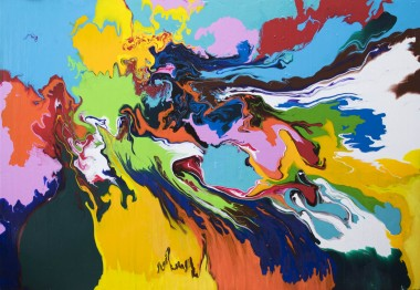 multi-coloured abstract painting