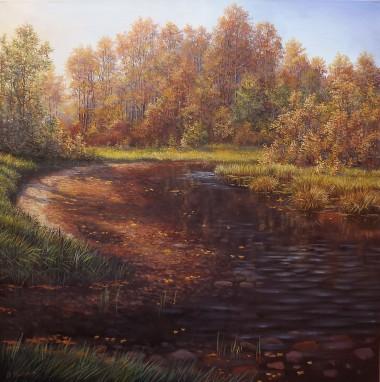 Autumnal Landscape - Forest Brook II