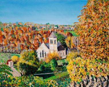 Frampton Mansell Church In Autumn