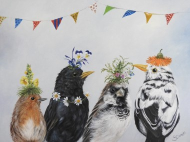 Birds with Hats