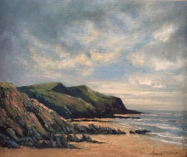 Crackington Haven, oil painting by David Mather