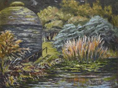 Cotehele dovecot and pond