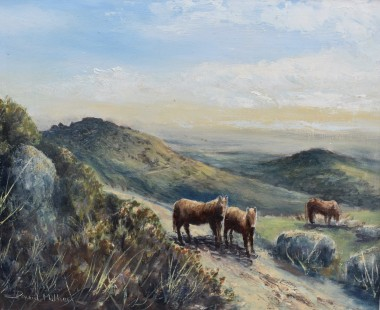 Kings Tor Dartmoor oil painting by David Mather