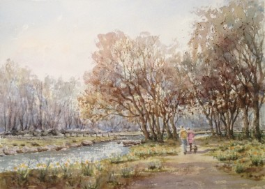 Dunsford Woods watercolour by David Mather