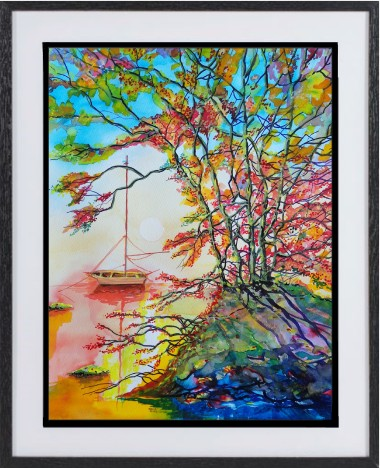 boat framed picture