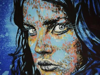 Closeup  PS105 Blue allover