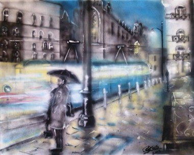 Rainy Night in Krakow