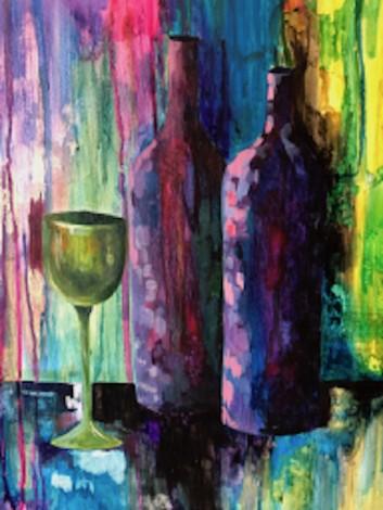 Purple Bottles & Green Glass
