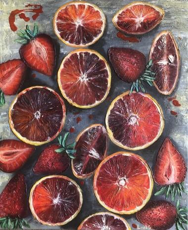Red orange and strawberry