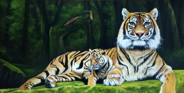The majestic tiger and cub