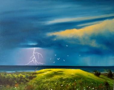 Approaching summer storm