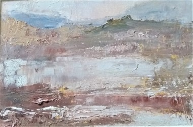 Landscape of Welsh mountain and river