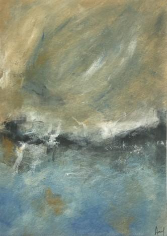 Acrylic seascape on board
