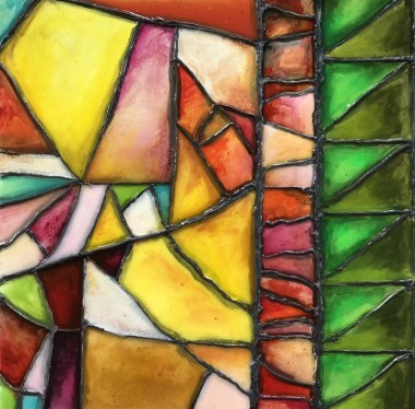 Spring stained glass